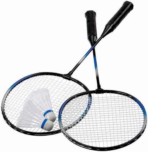 raquete de badminton kit completo 2 raquetes  2 petecas