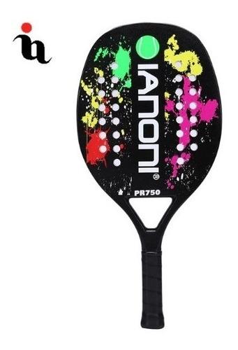 raquete de beach tennis ianoni carbon team