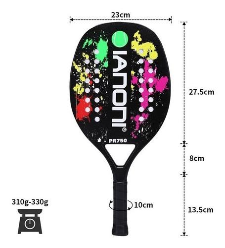raquete de beach tennis ianoni pr750 carbon team