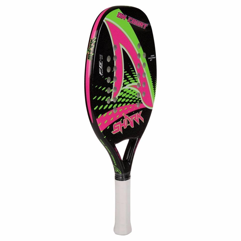 fc57cc69b raquete de beach tennis shark on court + capa. Carregando zoom.