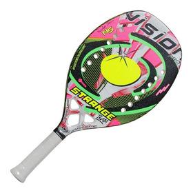 Raquete De Beach Tennis Vision Strange + Capa 350g