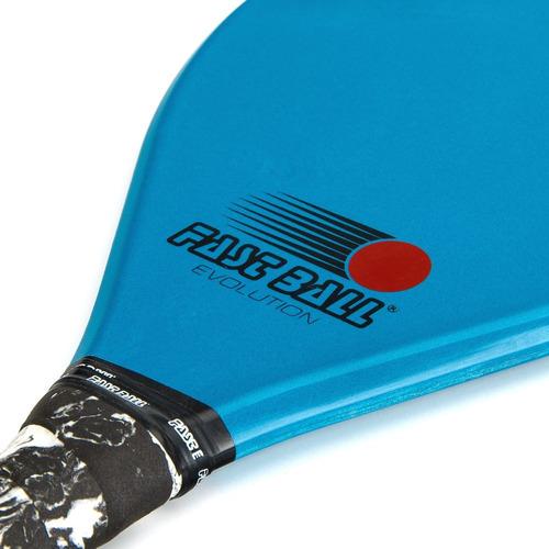 raquete de frescobol fast ball evolution azul