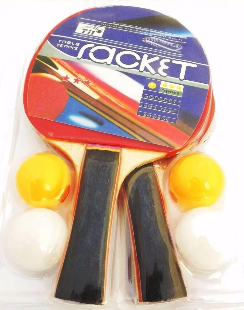 aabb6b175 Raquete De Tenis De Mesa Ping Pong 2 Raquetes E 4 Bolinhas - R  28 ...
