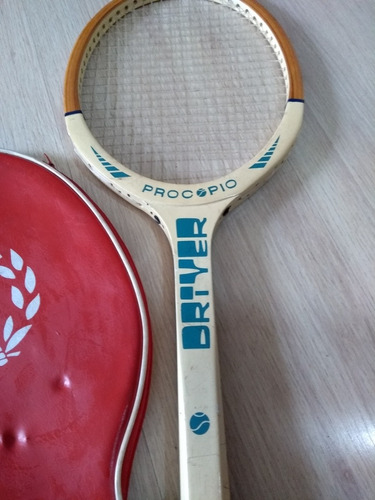 raquete de tenis procopio oriver com capa antiga !