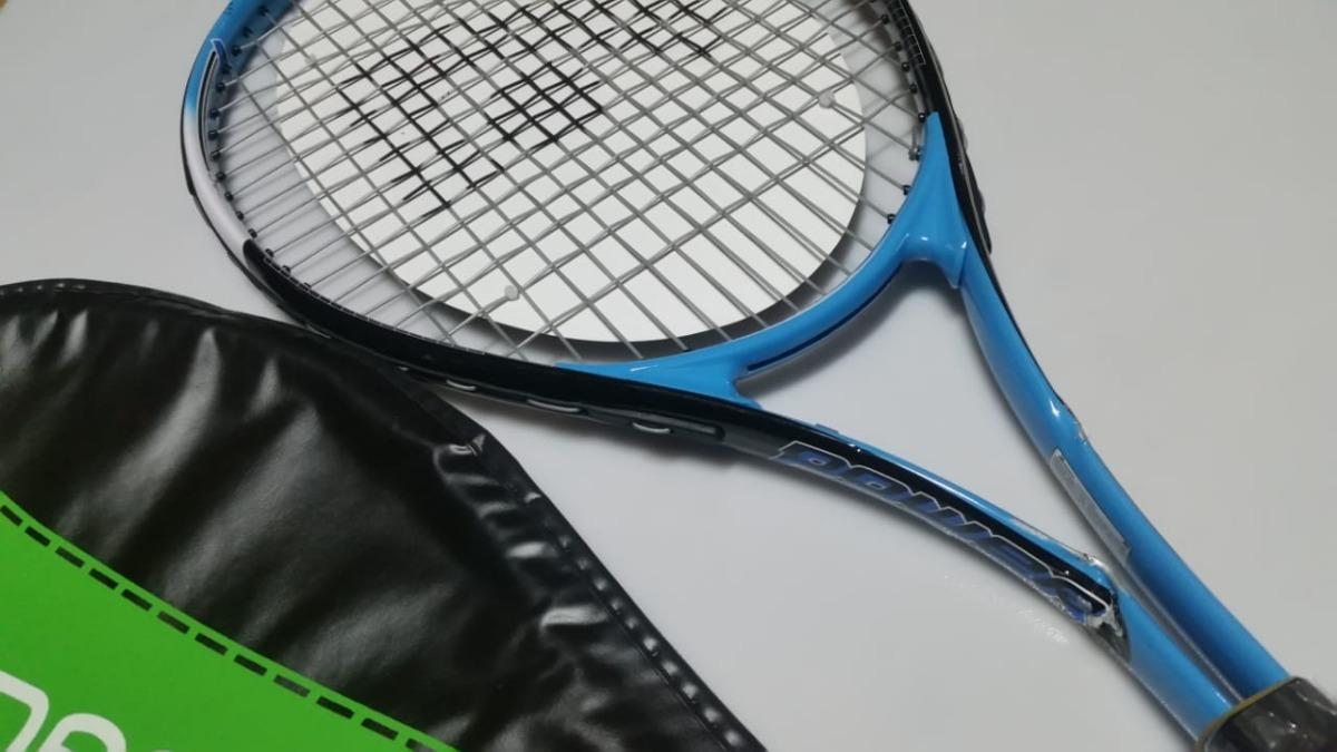 88fd17c5dae raquete de tênis adams power 507 azul e branca - vitrine . Carregando zoom.