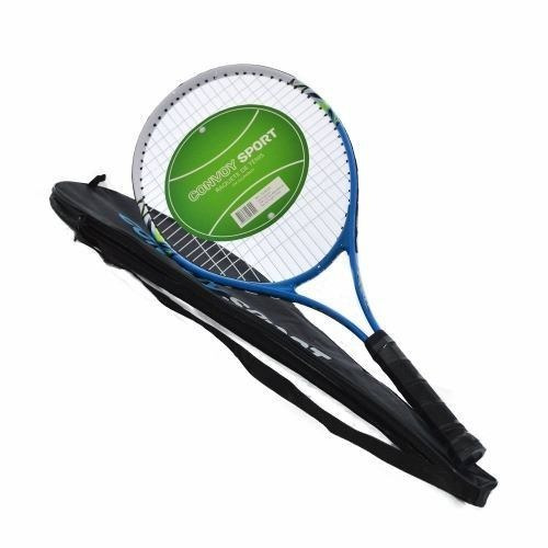 raquete de tênis adulto alumínio azul com estojo yins