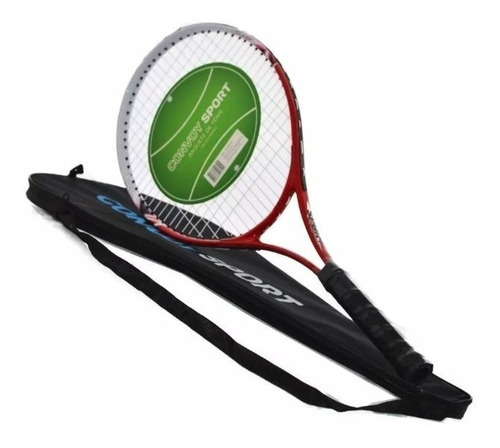 raquete de tênis alumínio + capa adulto federer frete gratis
