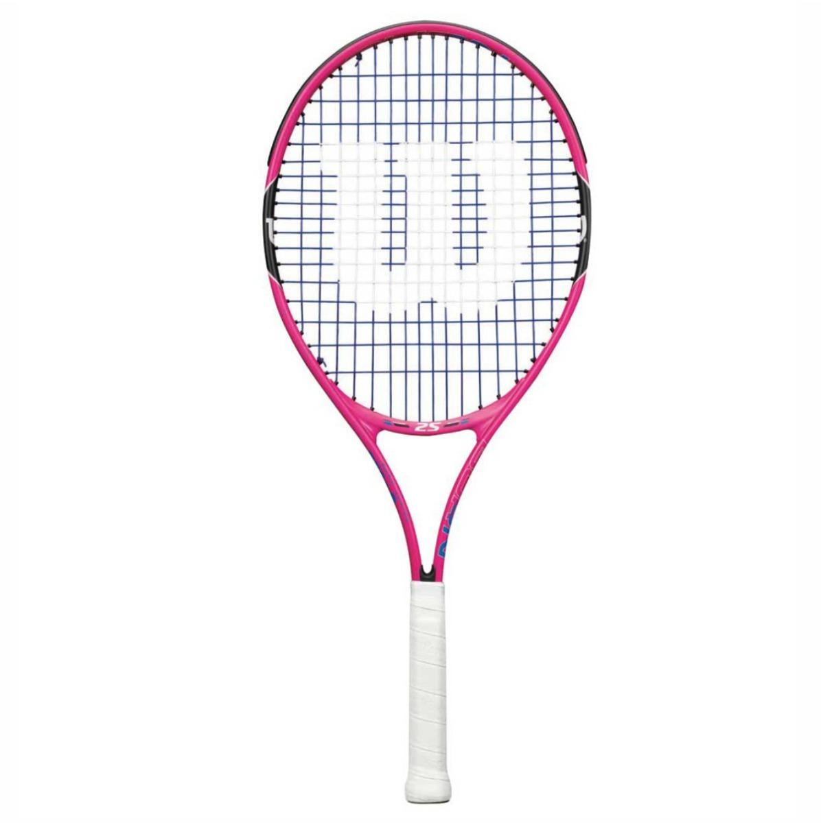 a6380466d Raquete De Tênis Infantil Wilson Burn Pink 25 - 9 E 10 Anos - R  249 ...