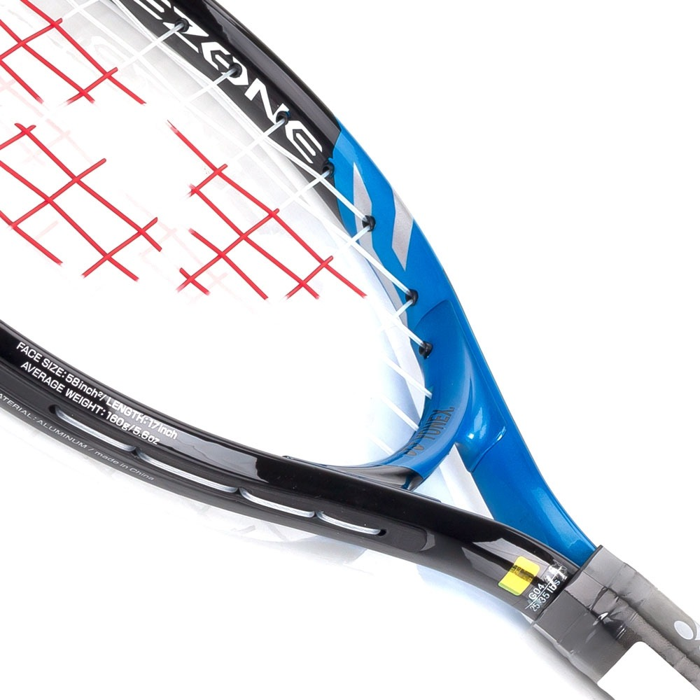 49ddc4984a2 raquete de tênis infantil yonex ezone 17 preta e azul. Carregando zoom.