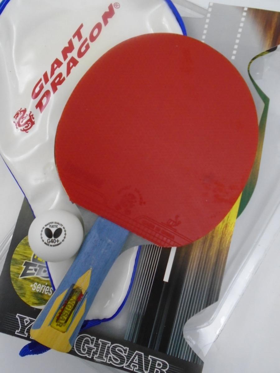 7191eb6d7a8aa Raquete Tenis Mesa Giant Dragon Super + Bol Butterfly +capa - R  118 ...