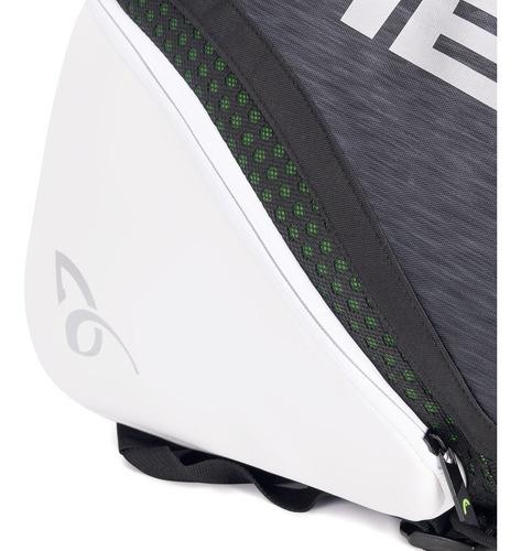 raqueteira head djokovic 6r combi preta grafite e branca