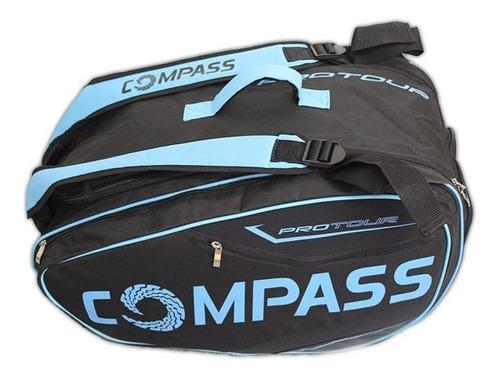 raqueteira mochila blue pro tour - compass padel e bt