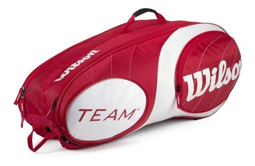 raqueteira wilson team 9 pack - dupla