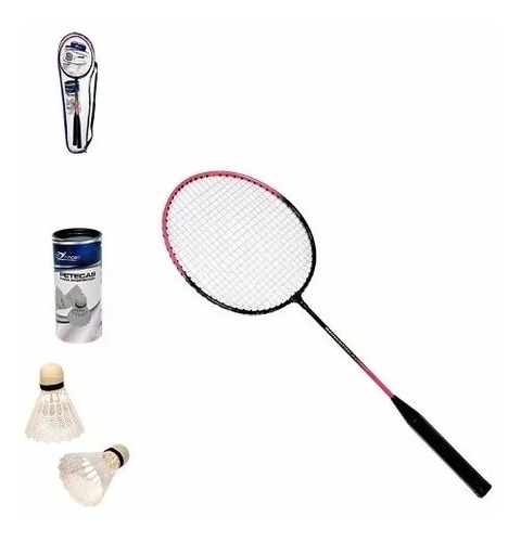 raquetes badminton kit completo 2 petecas 2 raquetes + bolsa