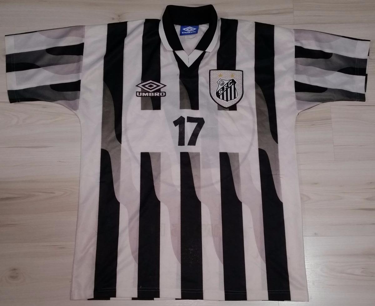rara camisa away de jogo santos 1998  17 umbro tamanho g. Carregando zoom. daccd528859f2