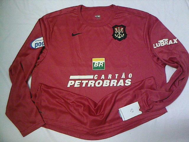 Rara Camisa Flamengo Oficial Nike Escudo Remo Manga Longa - R  89 8803c465f8e8e