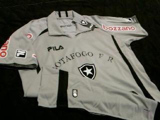 63eb585d65 Rara Camisa Goleiro Botafogo Cinza Oficial Fila 2010 2011 - R  129 ...