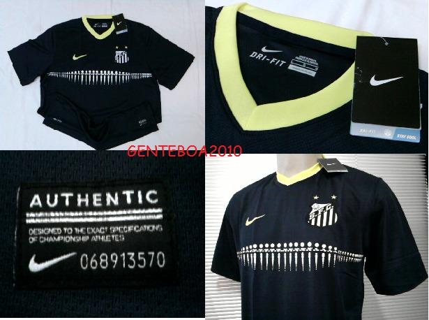 Rara Camisa Santos Azul Oficial Uniforme 3 Nike 2013   2014 - R  119 ... 475068a8531a3