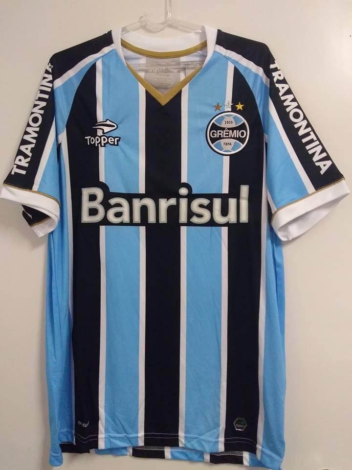 Rara E Nova ! Camisa Gremio Oficial Topper Libertadores 2014 - R ... 7858cc1341dcf