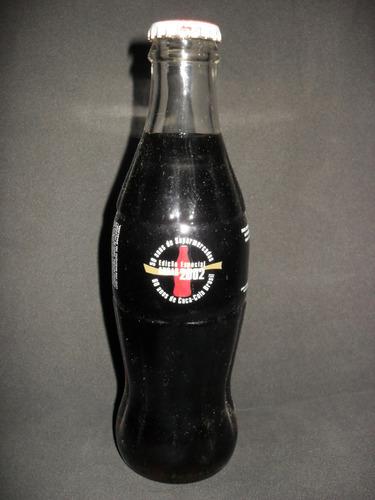 rara garrafa coca-cola 50 anos da abras - 2002