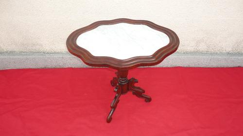 rara mesa sala antigua victoriana tapa de marmol mirala