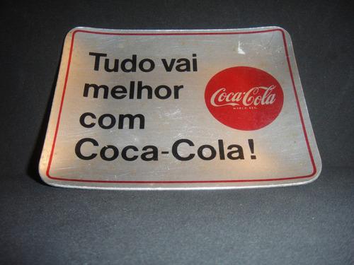 rara miniatura placa de metal da coca-cola de 1971