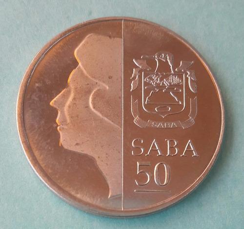 rara moneda de la isla de saba (países bajos )