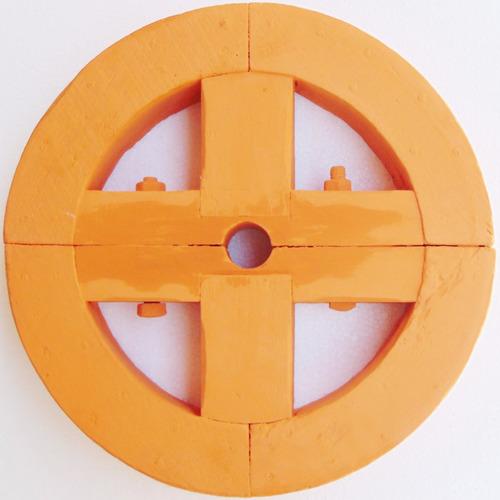 rara polia em madeira de roda d'água e turbina objeto antigo