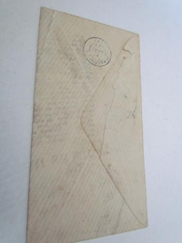 rara sobrecarta brasil d.pedro e numeral (olho de cabra)