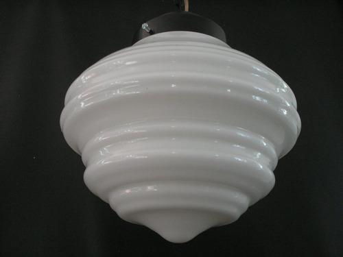 raridade antigo grande globo lustre opalina disco voador pen