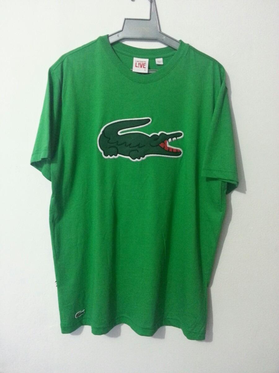 bb3cfe609d4bc raridade! camiseta lacoste edição big croc bordado t5! Carregando zoom.