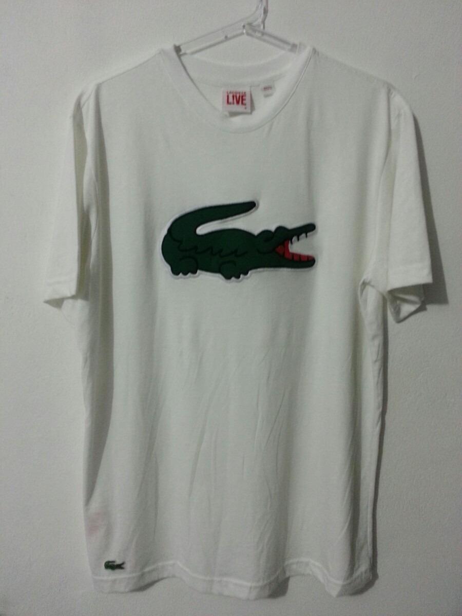 2e91f8ba097fa raridade! camiseta lacoste live edição big croc bordado t4. Carregando zoom.
