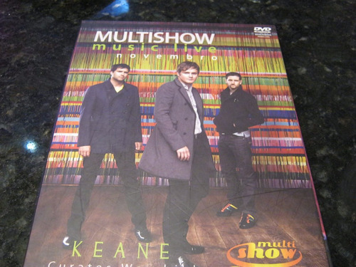 raridade!!! dvd keane curates warchild multishow music live