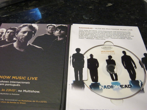 raridade!!! dvd radiohead multishow music live