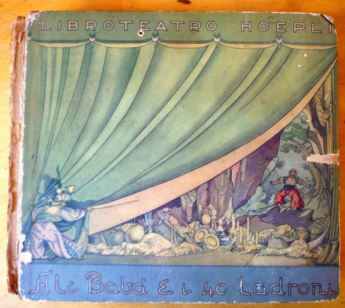 raridade - livro teatro ali babá - hoepli milano 1943