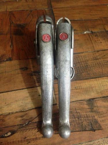 raridade par de manetes de freio em alumínio ukai japan