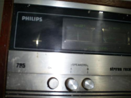 raridade rádio antigo tuner de madeira philips rh-975