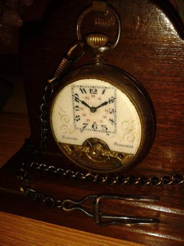 raridade: relógio hebdomas military gun 8 jours - swiss/1890