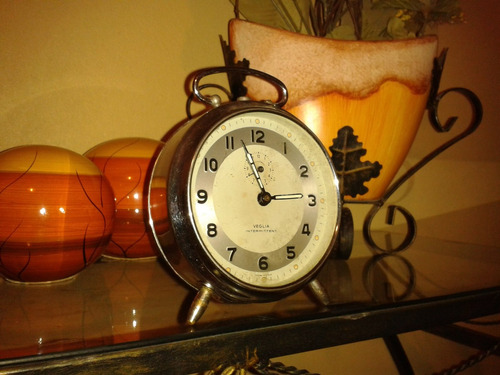 raridade relógio veglia intermittent alarm clock- italy/1950