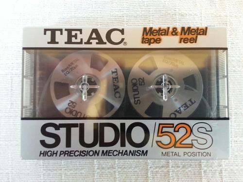 raríssima fita cassete teac studio 52s metal made in japan!