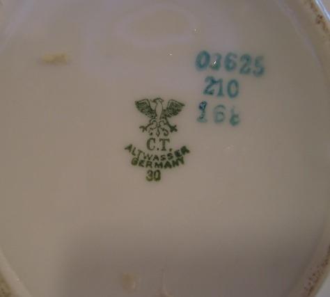 raríssima leiteira da porcelana c.t. altwasser -germany-1950