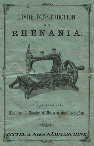 raríssima máquina rhenania original progress - germany/1890