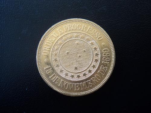 rarissima moeda de ouro de 20.000 réis de 1922 - fc - veja