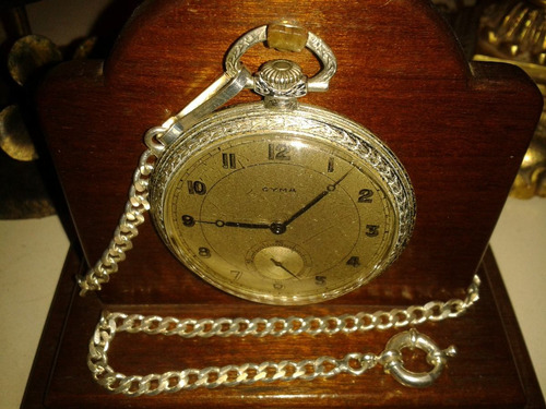 raríssimo relógio bolso cyma 15 jewels - swiss made/1930