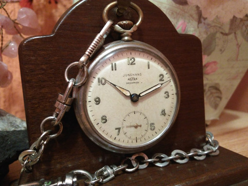 raríssimo relógio junghans astra shockproof - germany/1953