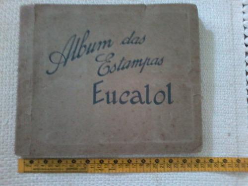 raro álbum original estampas eucalol - década1940-12 páginas