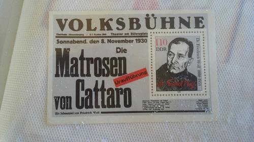 raro bloco selos alemanha oriental ddr g
