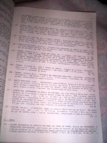 raro catalogo de livros raros leart 1987
