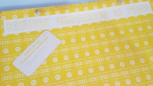 raro catálogo de peças kombi 1600 manual kombi