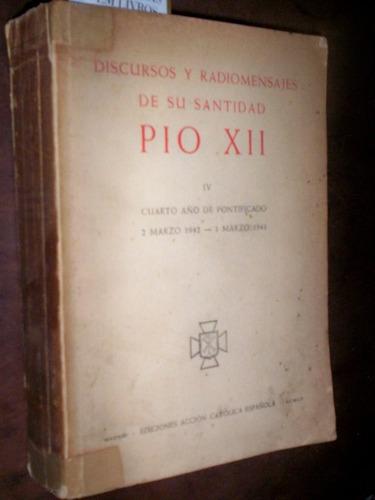 raro discursos do papa  pio xii 1942 a 1943 em espanhol